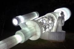 和紙でできた巨大望遠鏡