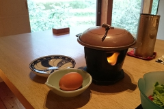 朝ごはんのベーコン&エッグがおいしかった