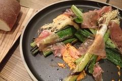 焼き野菜と生ハム
