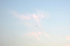 きれいな空と月