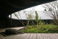 建物の流線型の屋根