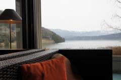 宿から見える湖
