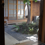The Hanare view of the garden.
