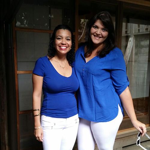 なぜかペアルックになってしまったプエルト・リコからのお客様/Cute paired clothed guests from Puerto Rico